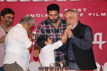 Photos: Jayam Ravi celebrates son Aarav's birthday at Tik Tik Tik success meet
