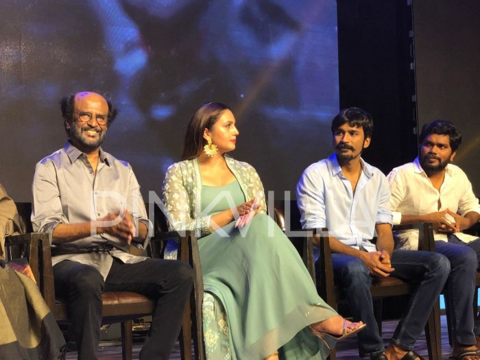 Photos: Rajinikanth, Huma Qureshi, Dhanush and others at Kaala promotions