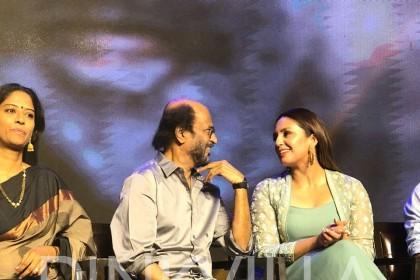 Photos: Rajinikanth, Huma Qureshi, Dhanush and others at Kaala promotions