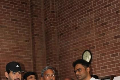 Photos: Mahesh Babu meets the CM of Uttarakhand on sets of his next with Vamshi Paidipally in Dehradun