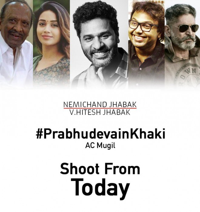 Prabhudheva starts shooting for his next to be directed by AC Mugil