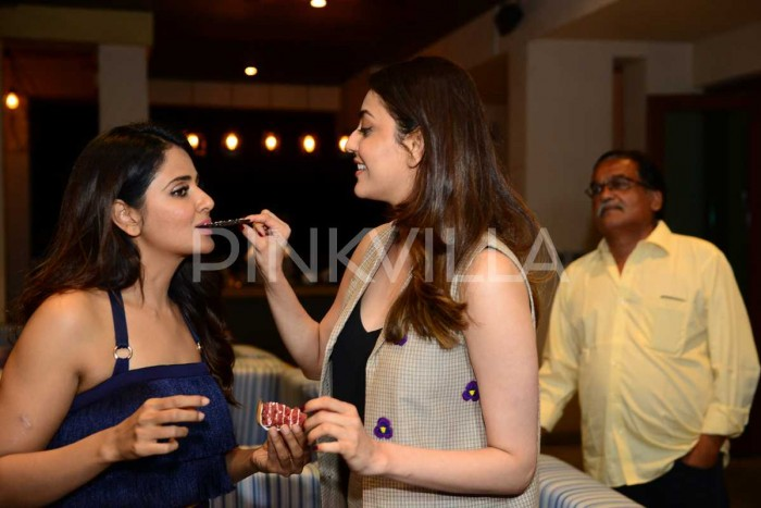 Photos: Parul Yadav celebrates birthday with other leading ladies of Queen remake Kajal Aggarwal and Tamannaah