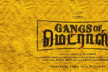 Maayavan director CV Kumar gearing up for his next titled Gangs of Madras