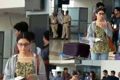 See Photos: Tamannaah spotted at the airport in Mysuru shooting for Queen remake