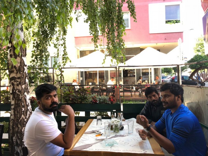 Photos: STR gets snapped on the shooting sets of Chekka Chivantha Vaanam in Serbia
