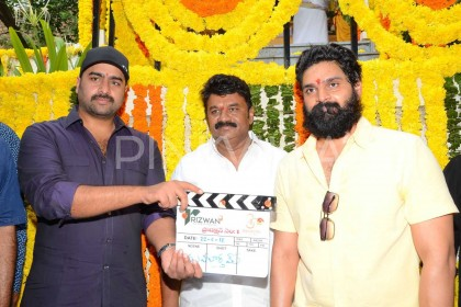 Photos: Nara Rohit attends the launch of good friend Sree Vishnu's upcoming film in Hyderabad