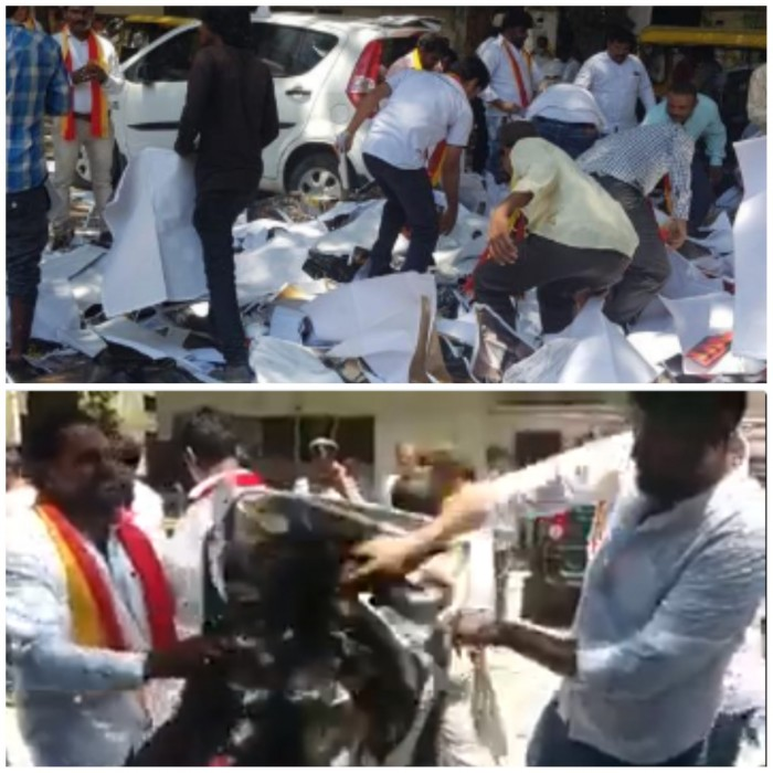 Video: Ahead of the release, Kaala posters torn and distributor's office attacked in Bengaluru