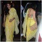 Photos: Shruti Haasan joins the yellow bandwagon, makes a striking appearance in a chikankari sari
