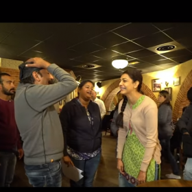 BTS Video: Kajal Aggarwal in candid moments on the sets of Paris Paris
