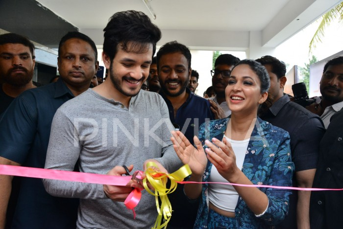 Photos: Akhil Akkineni and Lavanya Tripathi make a stylish appearance at a launch event