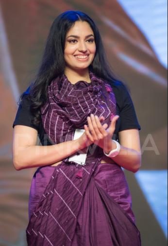 Style check: Malvika Nair pulls off sari with sneakers look amazingly at Vijetha audio launch