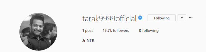 After Rajinikanth and Kamal Haasan, Jr NTR makes Instagram debut