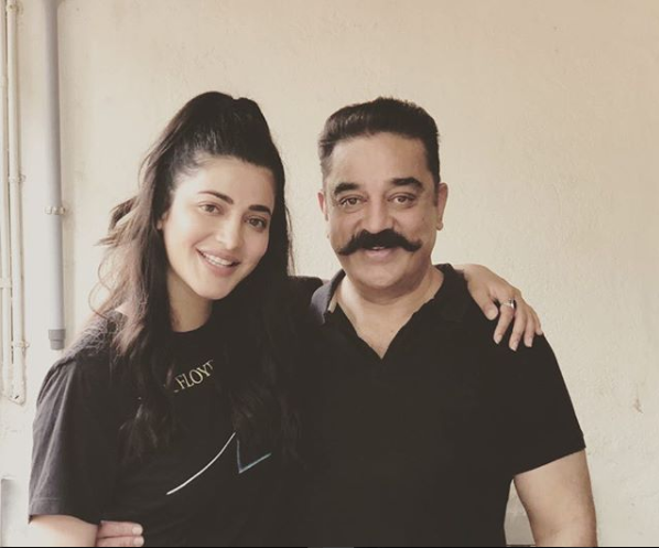 Ahead of Vishwaroopam 2 trailer release, Kamal Haasan spends time with daughter Shruti Haasan