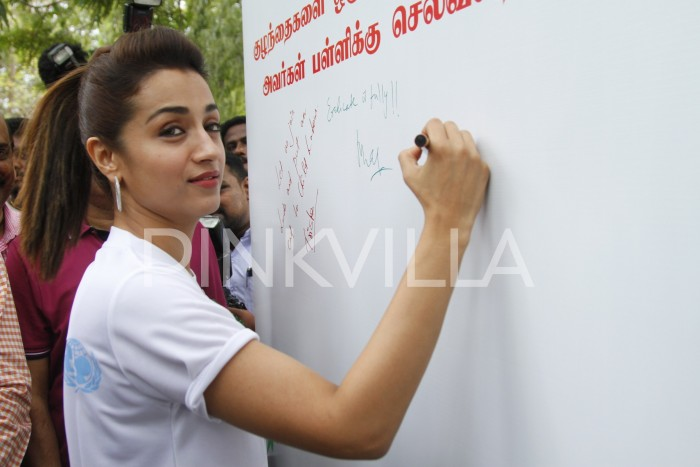 Photos: Trisha lends her support against child labour