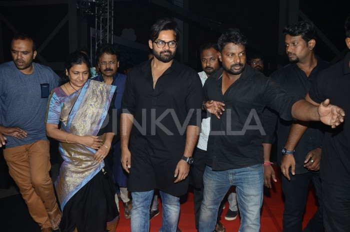 Photos: Megastar Chiranjeevi graces the audio launch event of Sai Dharam starrer Tej I Love U