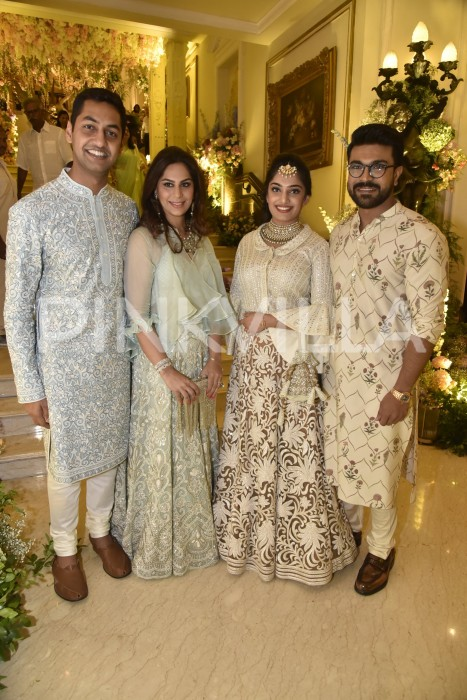 Photos: Ram Charan, Upasana, Namrata Shirodkar and others at Shriya Bhupal-Anindith's grand sangeet ceremony