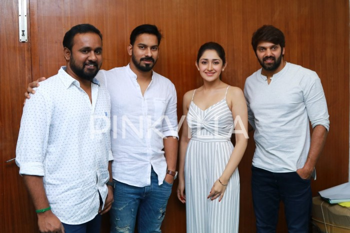 Photos: Arya and Sayyeshaa Saigal promote Ghajinikanth in style