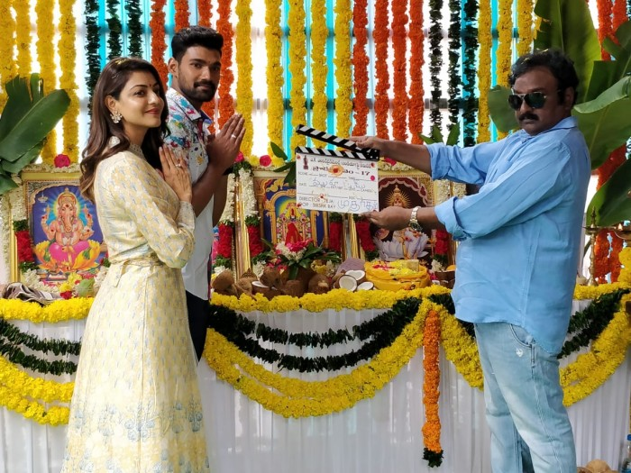 Photos: Bellamkonda Sreenivas' film with director Teja also starring Kajal Aggarwal gets launched
