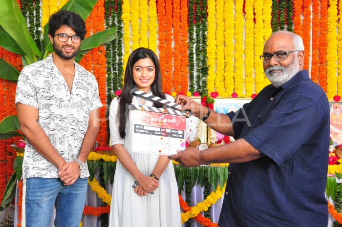 Photos: Vijay Deverakonda and Rashmika Mandanna starrer Dear Comrade goes on floor officially