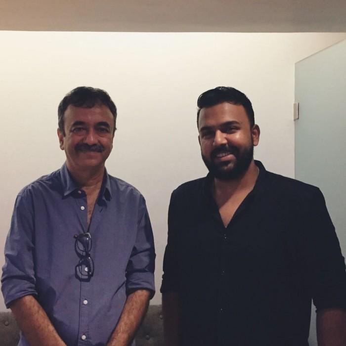 Tharun Bhascker meets Sanju director Rajkumar Hirani in Mumbai