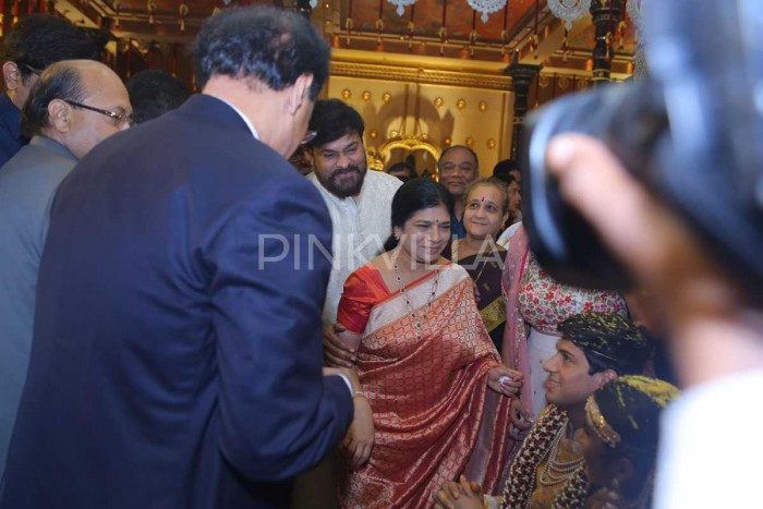 Photos: Telugu film fraternity attends the wedding of T Subbirami Reddy's grandson Anirudh