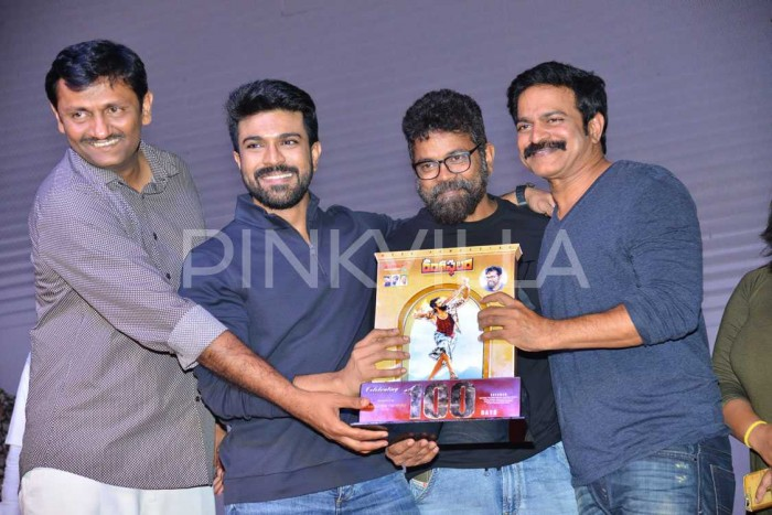 Photos: Ram Charan, director Sukumar, DSP and others attend the celebrations of Rangasthalam 100 days
