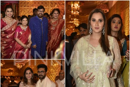 Photos: Chiranjeevi, Ram Charan, Upasana, Namrata Shirodkar and others attend Shriya-Anindith wedding