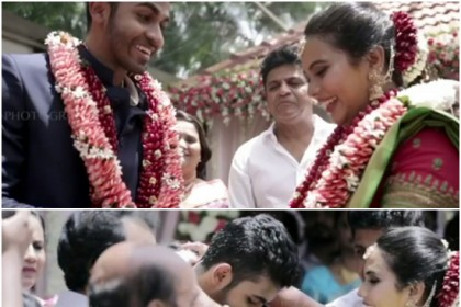 Watch: Yuvarajkumar, grandson of Kannada actor Rajkumar, gets engaged and it is nothing short of a fairy tale