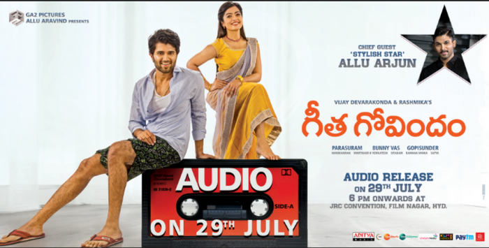 Allu Arjun to be the chief guest at Vijay Deverakonda's Geetha Govindam audio launch