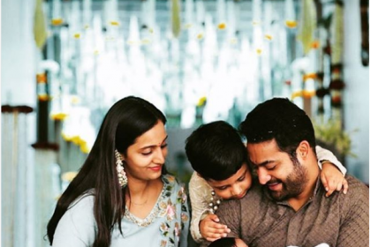 Jr NTR shares an adorable family photo, reveals the name of his newborn son