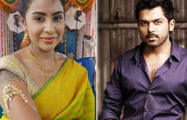 Sri Reddy hits back at actor Karthi