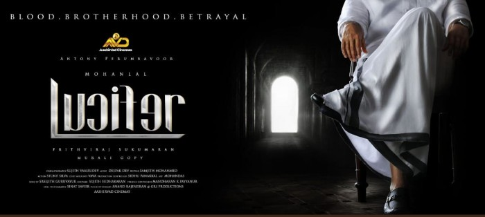 First poster of Mohanlal- Prithviraj Sukumaran's Lucifer is out