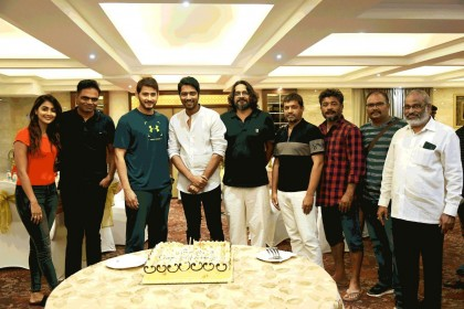Photos: Mahesh Babu, Pooja Hegde and others celebrate the birthday of Allari Naresh on the sets of their next