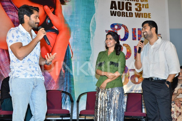 Photos: Adorable couple Samantha and Naga Chaitanya at Sushanth starrer Chi La Sow promotions