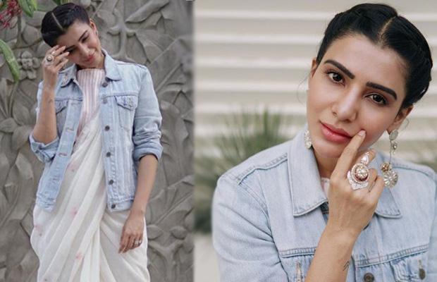 Style check: Samantha Akkineni shows us how to wear denim jacket with saree like a star