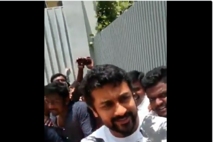 Watch: Suriya's crazy birthday celebration with fans