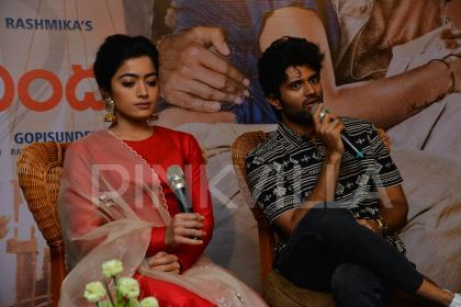 Photos: Vijay Deverakonda and Rashmika Mandanna at Geetha Govindam press meet