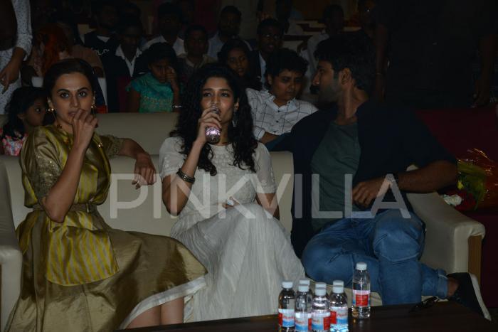 Photos: Taapsee Pannu, Aadhi Pinisetty and Ritika Singh at Neevevaro press meet