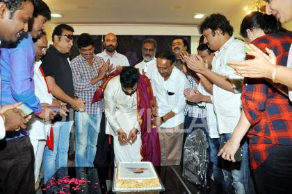 Photos: Megastar Chiranjeevi celebrates birthday with MAA members