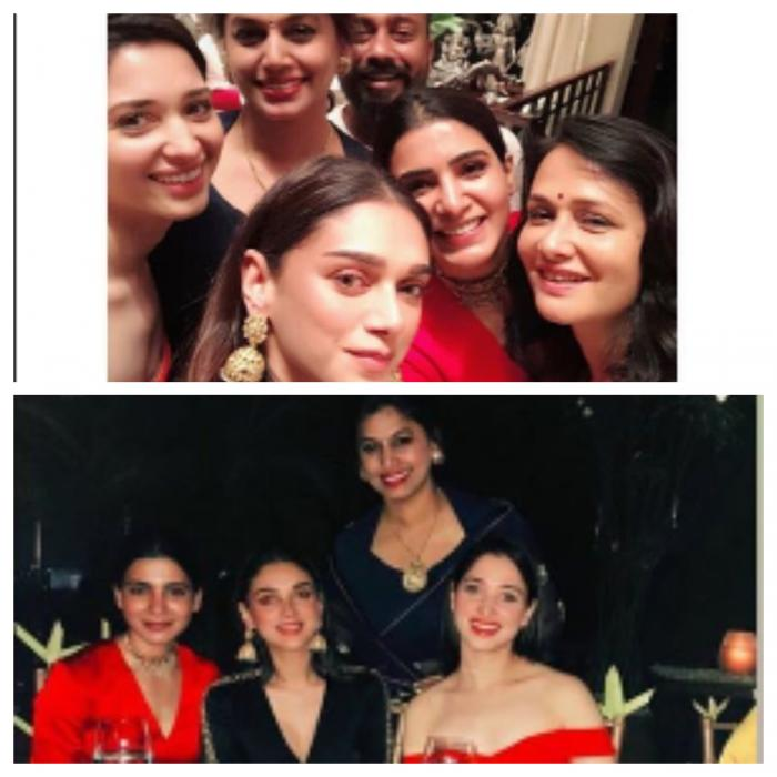 Inside photos: Aditi Rao Hydari, Samantha Akkineni and Tamannaah Bhatia party hard