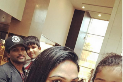 Allu Arjun and his son Ayaan adorably photobomb Sneha Reddy's selfie