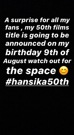 Dhanush to make a huge announcement on Hansika Motwani's birthday