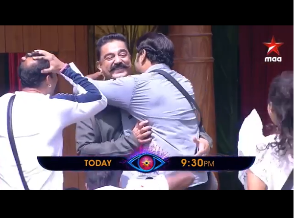 Watch: Nani welcomes Kamal Haasan in Bigg Boss Telugu house, housemates go crazy