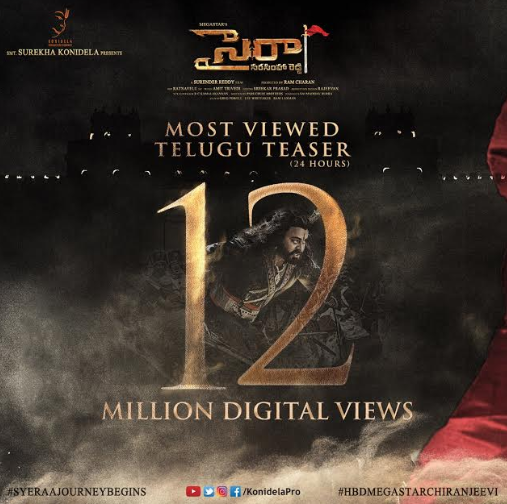 Chiranjeevi's Sye Raa Narasimha Reddy teaser crosses 12 million digital views in 24 hours