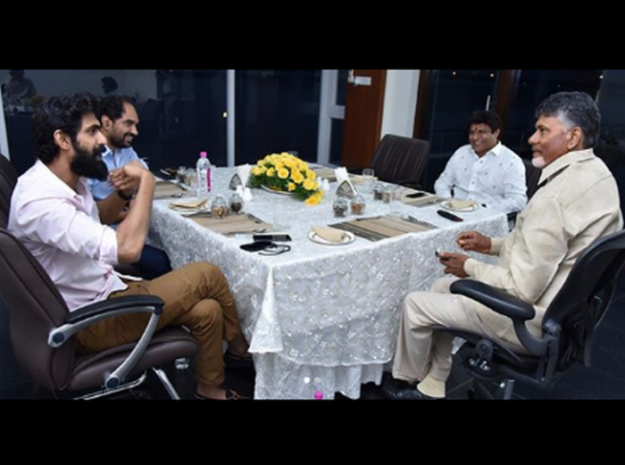 Rana Daggubati meets Chandrababu Naidu as he starts prepping up for NTR biopic