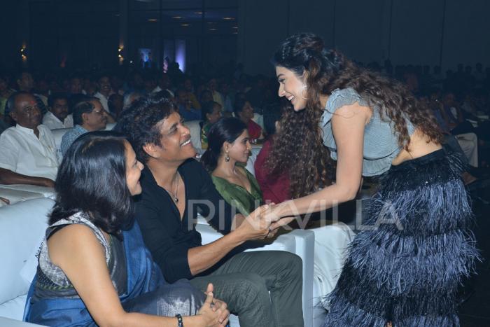 Photos: Samantha and Akhil Akkineni at Nagarjuna and Nani's grand Devadas audio launch