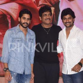 Photos: Akkineni Nagarjuna and Nani grace the pre-release event of Naga Chaitanya's Shailaja Reddy Alludu