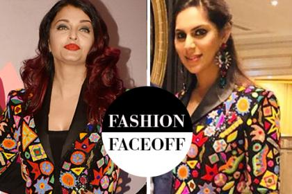 Fashion faceoff: Aishwarya Rai Bachchan or Upasana Kamineni; who wore Abu Jani-Sandeep Khosla outfit better