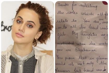 Taapsee Pannu receives the most heart warming note from a fan!