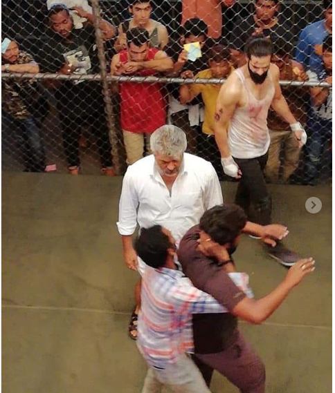 LEAKED! Ajith Kumar's fighting scene from the sets of Viswasam go viral